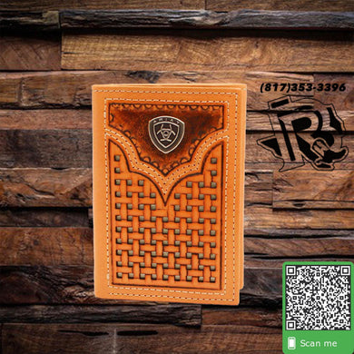 Ariat | Mens Western Wallet Trifold Basketweave