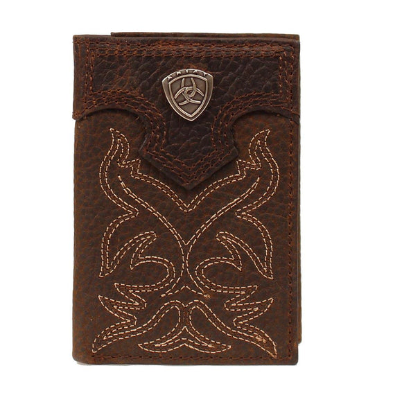 ARIAT PREMIUM BRAND MENS TRIFOLD WALLET A3511002