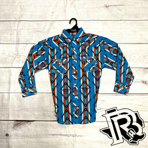 ROCK&ROLL BOYS AZTEC PRINT LONG SLEEVE SHIRT B8S6716