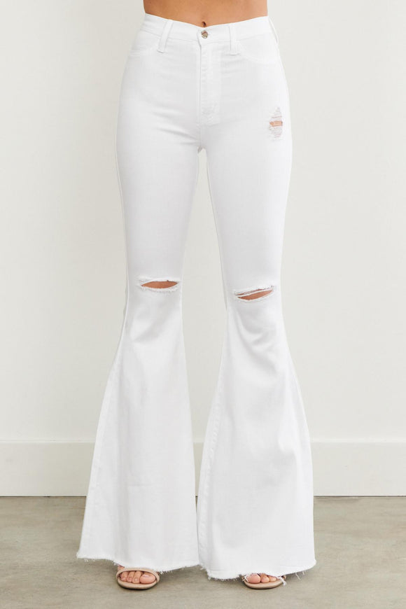 White Stone Bell Bottoms