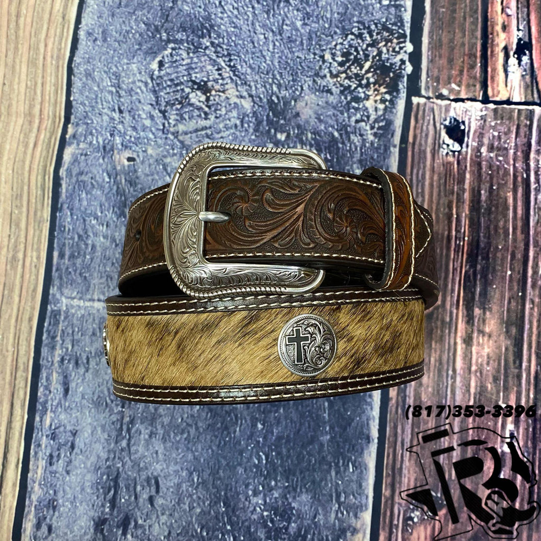 Calf Hair Cross Concho Brown Tapered 1 7/8-1 1/2 D100011302