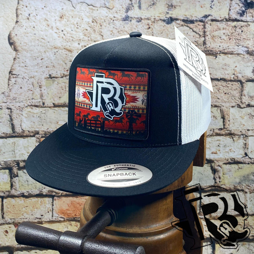 BR CAP RED VINTAGE EDITION: BLACK / WHITE