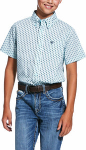 BOYS REEDLEY PRINT SHORT SLEEVE SHIRT STHGSEA 10031929