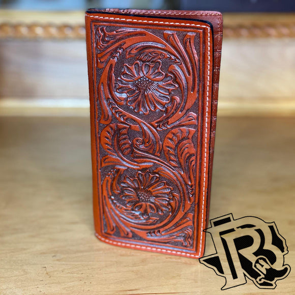 Twisted X Floral Tooled Leather Rodeo Wallet XWC3-2