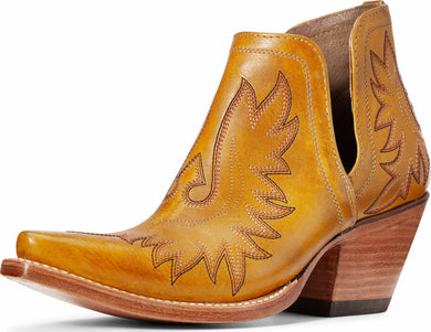 ARIAT Womens Dixon mustard ankle boot 10034042