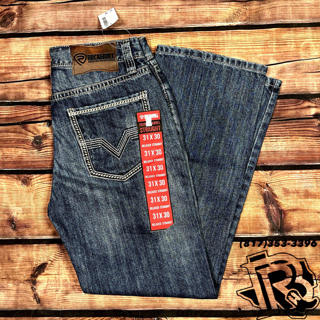 ROCK & ROLL DENIM | DOUBLE BARREL BOOTCUT MEN JEANS 19''