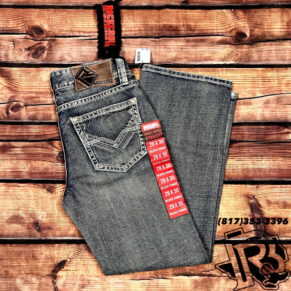 ROCK & ROLL DENIM | MEN JEANS DOUBLE BARREL BOOTCUT 19''