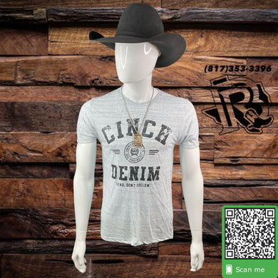 CINCH | MEN T SHIRT HEATHER WHITE
