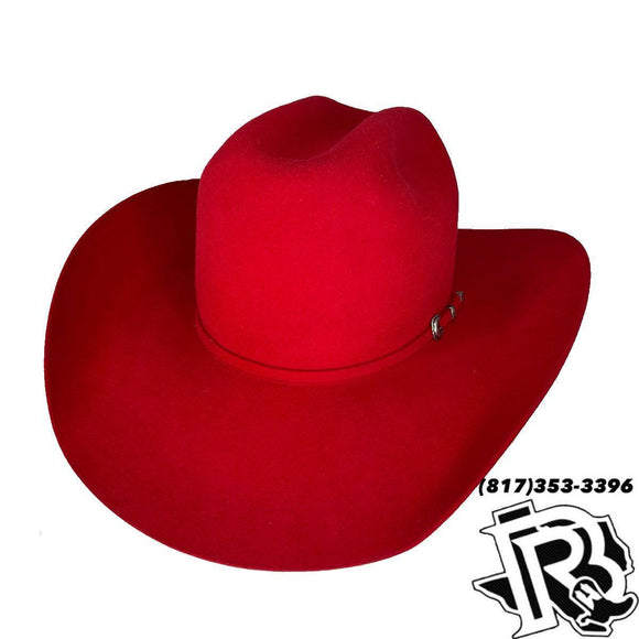 LUCKY 7X | RED RETRO COWBOY HAT