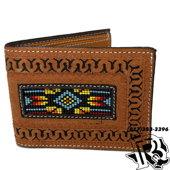 TWISTED X | WALLET BI FOLD BEADED