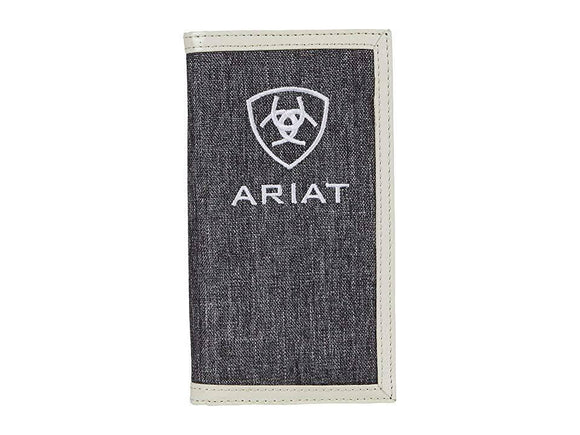 ARIAT MENS WALLET HEATHER GREY A3542305