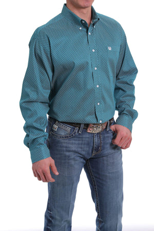 CINCH LONG SLEEVE SHIRT : TEAL MTW1104980