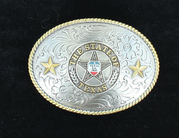 NOCONA MENS STATE OF TEXAS BUCKLE 37372