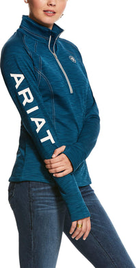 WOMENS TEK TEAM 1/2 ZIP DREAM TEAL HEATHER  SWEATER
