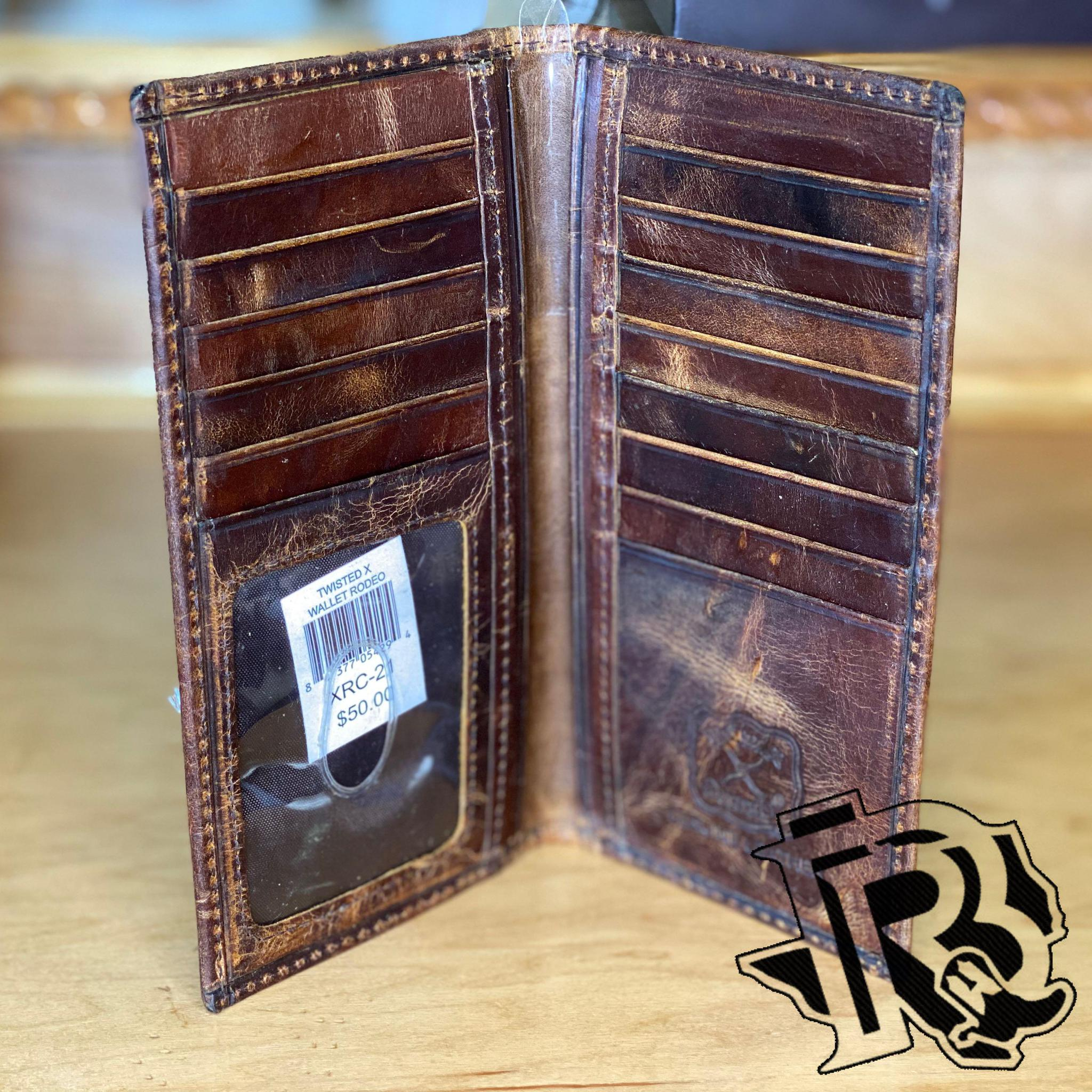 Twisted X Rodeo Distressed Brown and Turquoise Wallet (XRC-21)