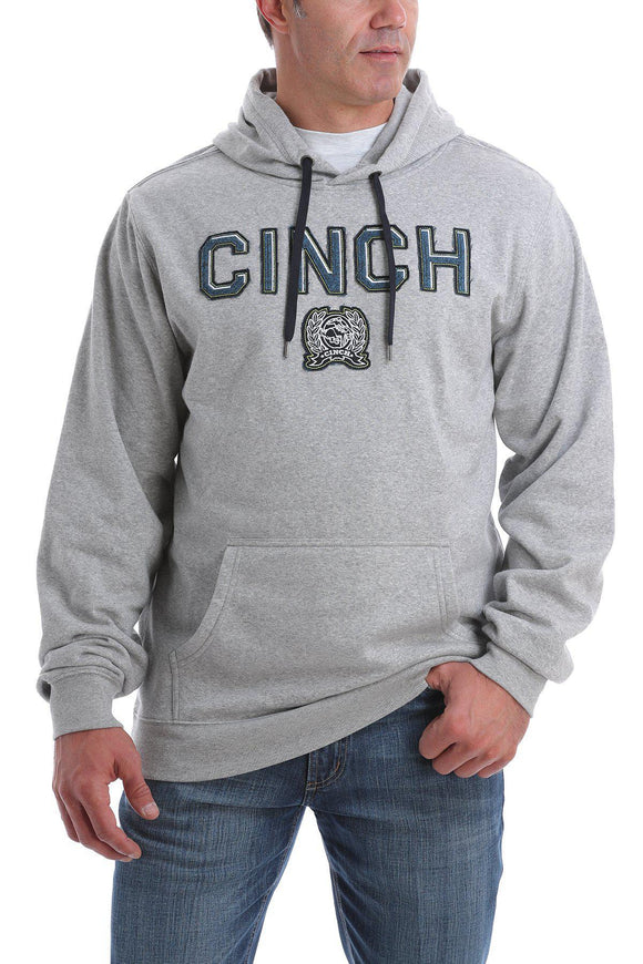 MENS HEATHER GRAY CINCH LOGO HOODIE (MWK12P06P013)