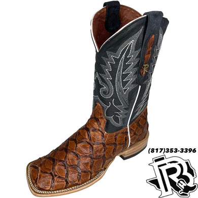 ORIGNAL FISH COGNAC | MENS SQUARE TOE BOOTS