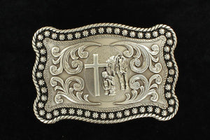 NOCONA MENS ANTIQUE SILVER BUCKLE 3759059