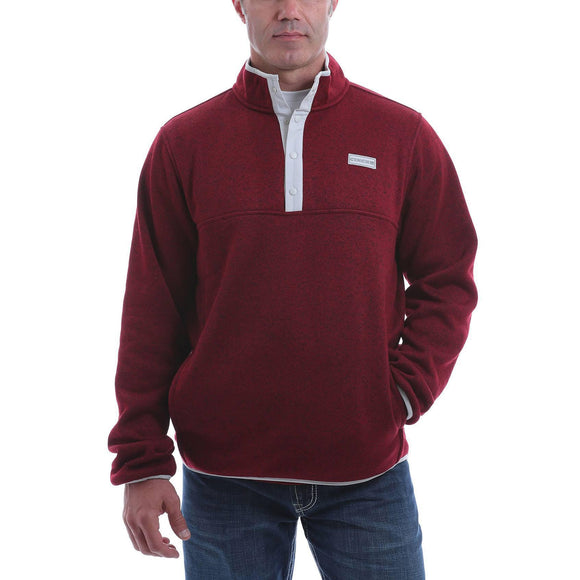 Cinch Men's 1/4 Snap Front Heavyweight Knit Pullover Sweatshirt