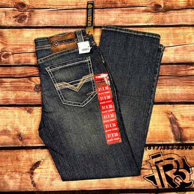 ROCK ROLL: MEN RELAXED STRAIGHT JEANS RED LABEL