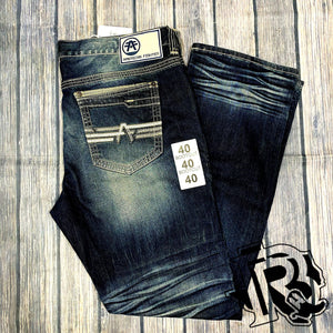 American Fighter Legend Rudy Nashville 331SS189 Men`s New Slim Straight Denim