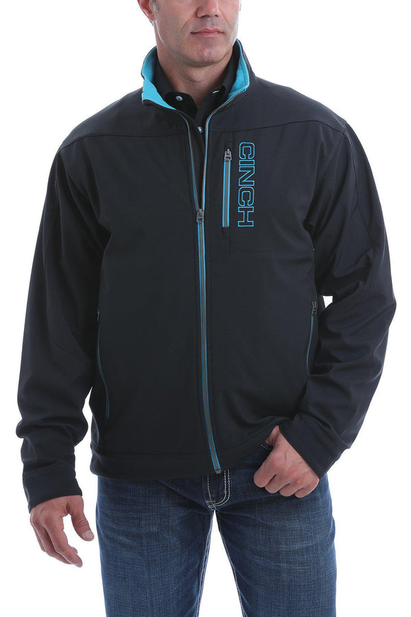 CINCH | Mens Concealed Carry Bonded Jacket - Black/Light Blue