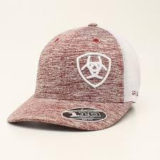 ARIAT HEATHERED MARRON WHITE LOGO CAP 15049207