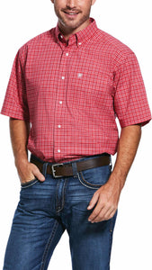 MENS ARIAT PRO SCOTTSDALE SHORT SLEEVE SHRT CORALREEF 10031953