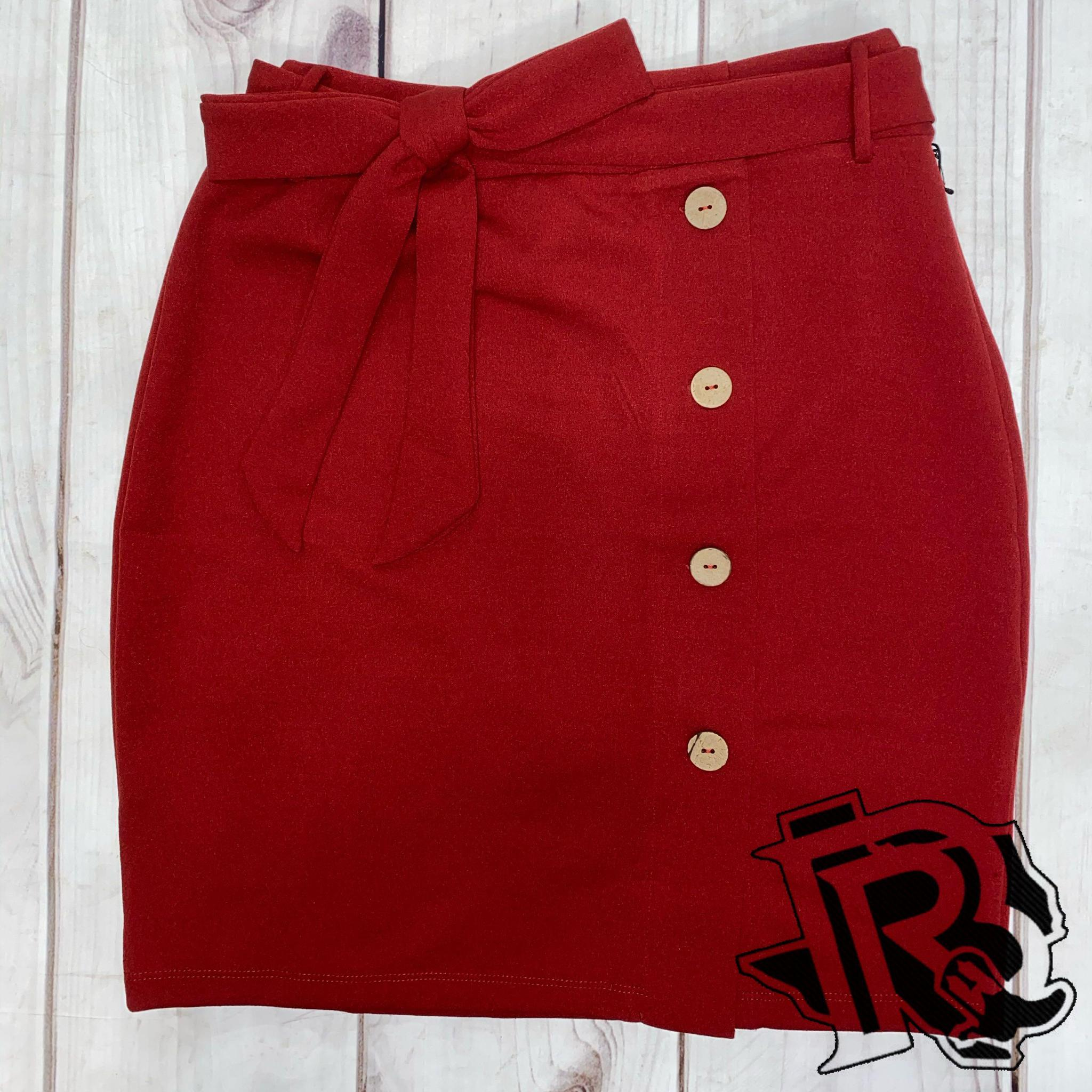 RED JANE SKIRT
