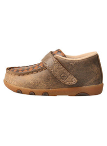 Infant Driving Moc  Bomber/Tan ICA0009