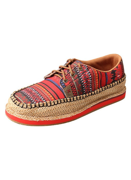 Twisted X Women's Driving Moc Loafer – Weave/Red Multi WCL0008