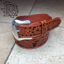 Load image into Gallery viewer, RANGER BELT COMPANY: TOOLED LEATHER BELT