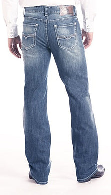 Double Barrel Straight Leg Reflex Jeans in Medium Wash Style Number M1R2396 ROCK & ROLL DENIM