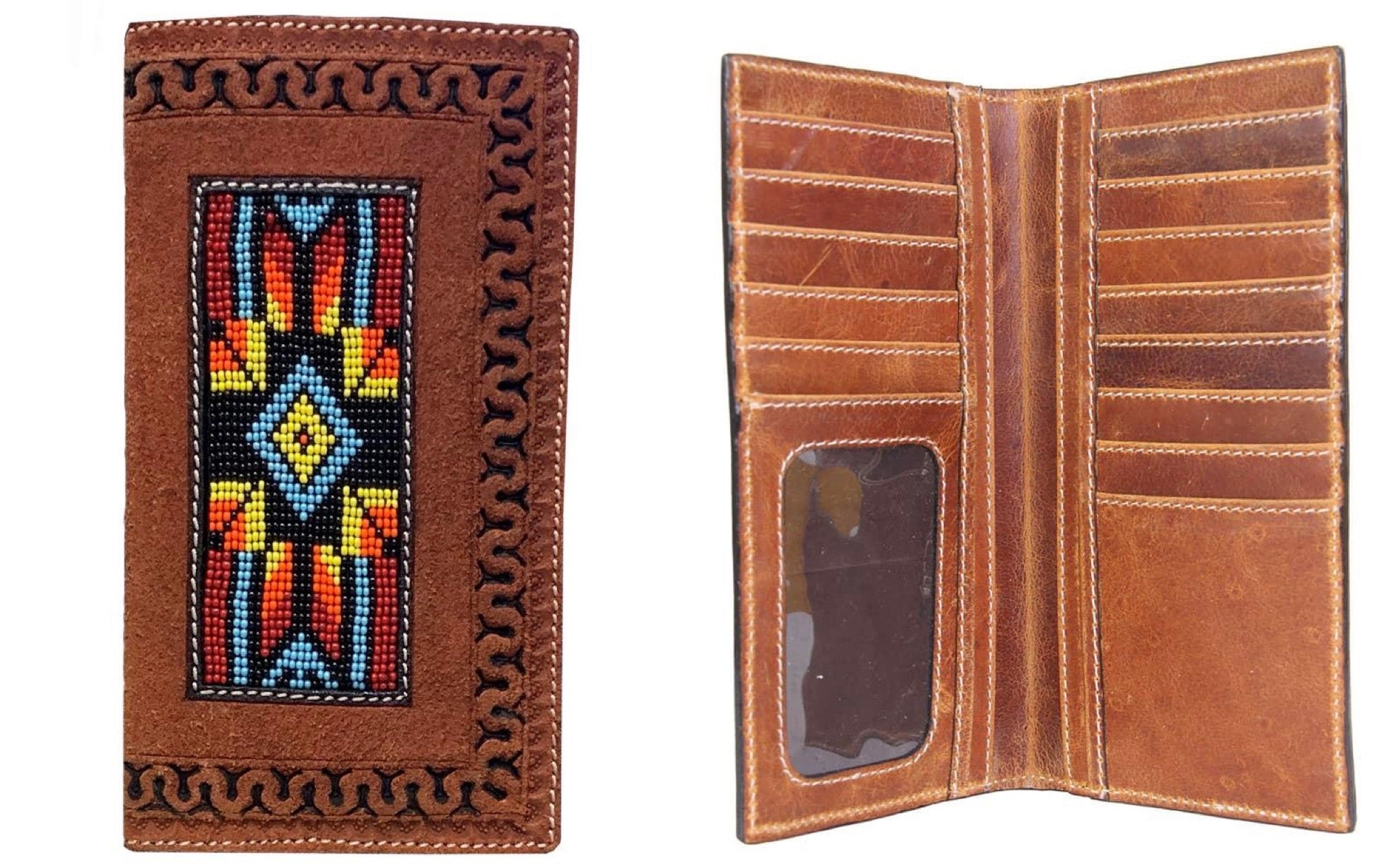 TWISTED X MEN'S ROUGH OUT BEADED WALLET XIH-18