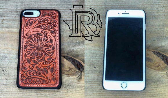 TOOLED LEATHER I PHONE 6/7/8 PLUS CASE