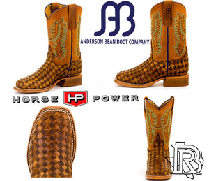 Anderson Bean Kids Boots - Unbeweavable Toast / Antique Bison / Honey Crazyhorse HPK7068