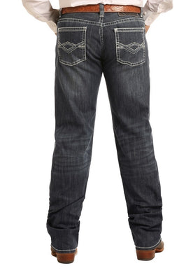 Tuf Cooper Reflex Fit Jeans in Dark Wash Style Number M0T3411 ROCK & ROLL DENIM