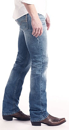 Revolver Slim Fit Straight Leg Reflex Jeans in Vintage Wash Style Number M1R2365 ROCK & ROLL DENIM