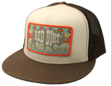 "RED DIRT CAPS : ""Aztec Buffalo"" Brown / White RDHC23"