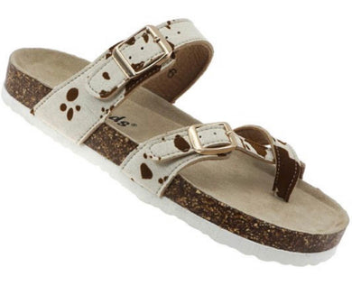 Cow Brown Sandals