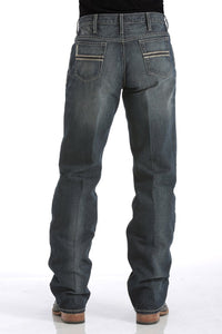 MENS RELAXED FIT WHITE LABEL JEANS - DARK STONEWASH MB92834019