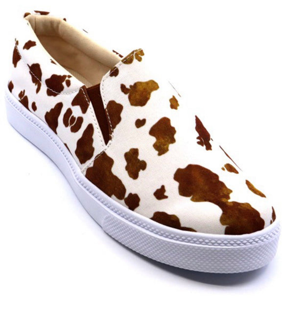 Cow Brown Shoes