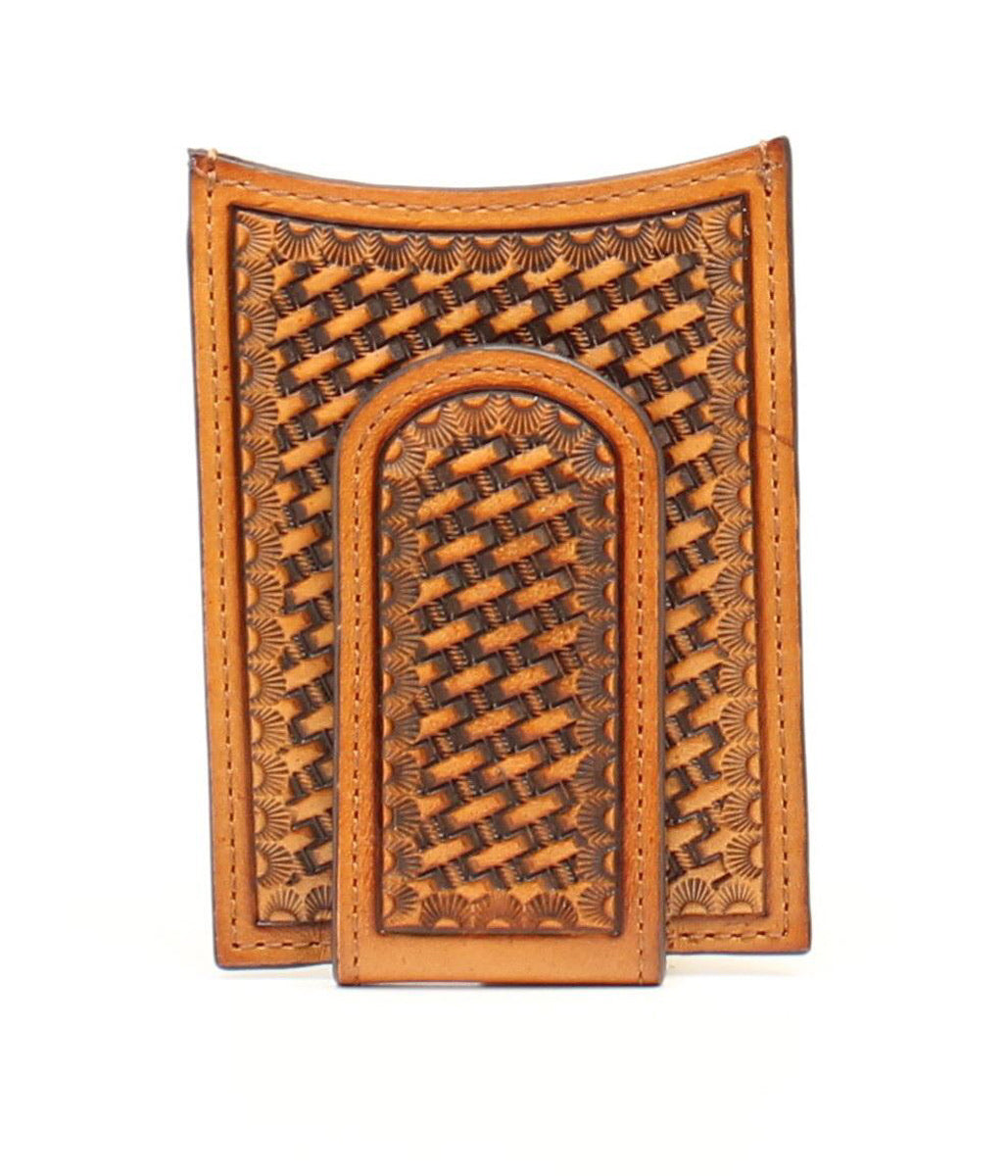 NOCONA MEN WALLET CLIP BASKET WEAVE N5428908