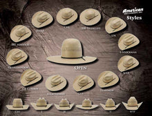 Load image into Gallery viewer, AMERICAN HAT | STRAW HAT 5525 WOR