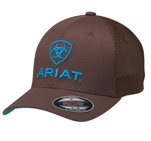 ARIAT CAP BROWN/BLUE LOGO 1502302