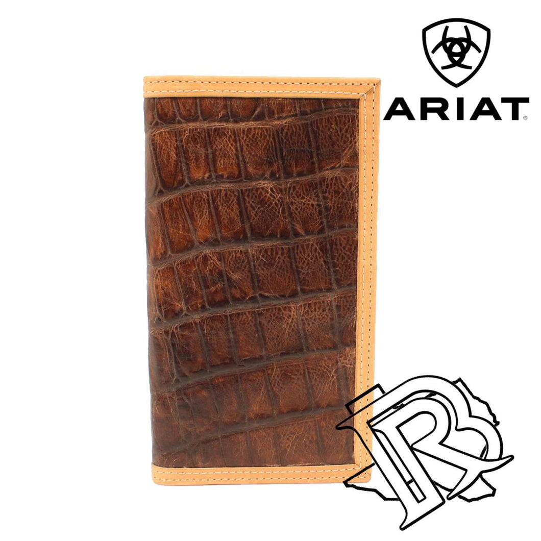 Ariat Western Brown Croc Rodeo Wallet - A3535202
