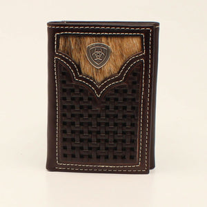 Ariat Mens Wallet Brown TriFold A3542202