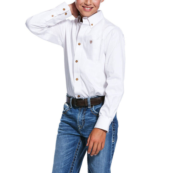 KIDS' ARIAT Solid Twill Classic Fit Shirt 10030162