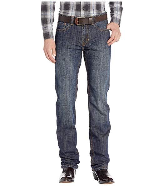 Rock and Roll Cowboy Men's Revolver Slim Jeans in Dark Vintage M1R8670