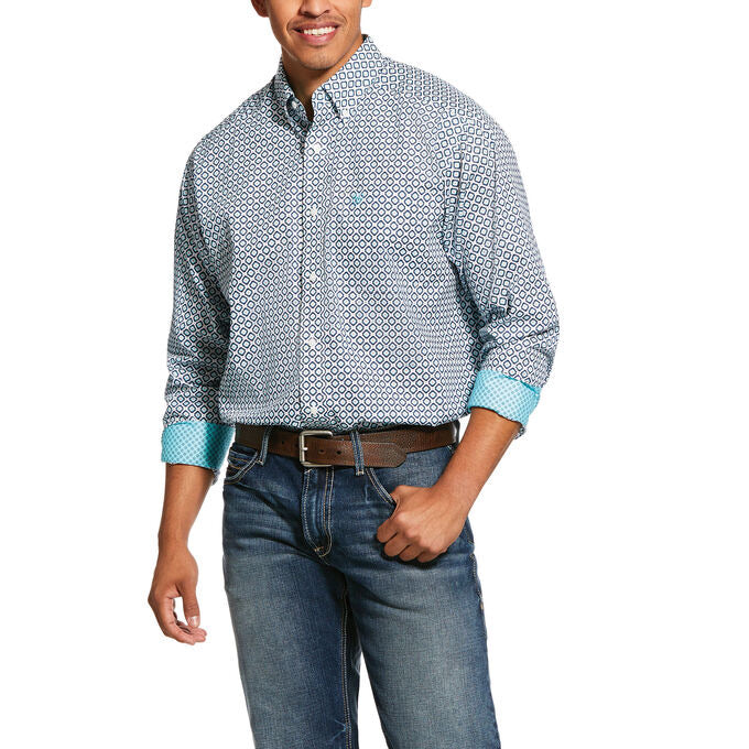 ARIAT MEN'S Wrinkle FREE  Porterville Print Classic Fit Shirt 10030778